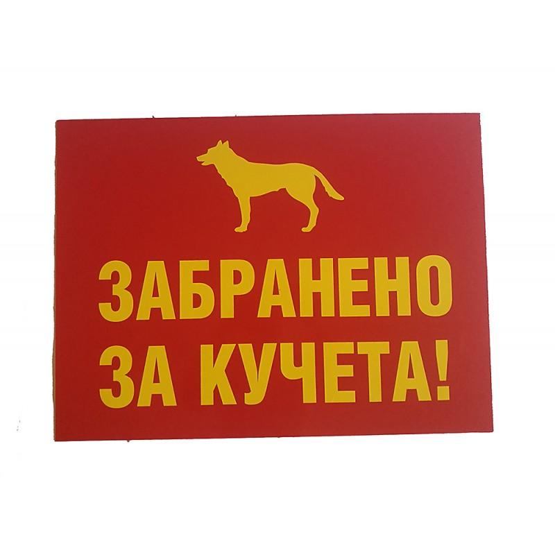 PVC Табела - Забранено за кучета