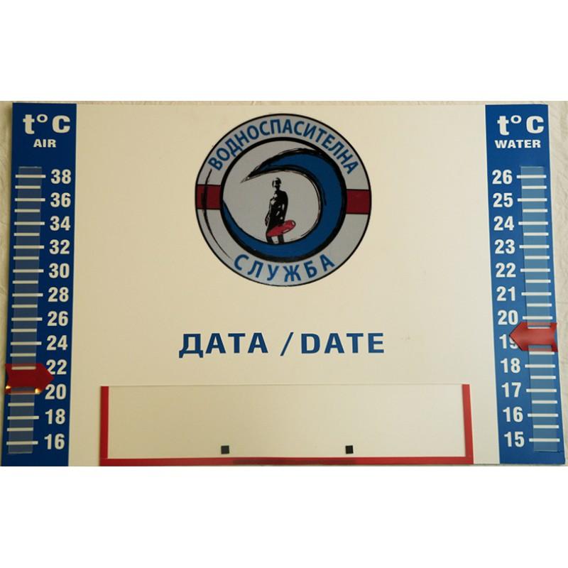 PVC Табло - Температура / Дата