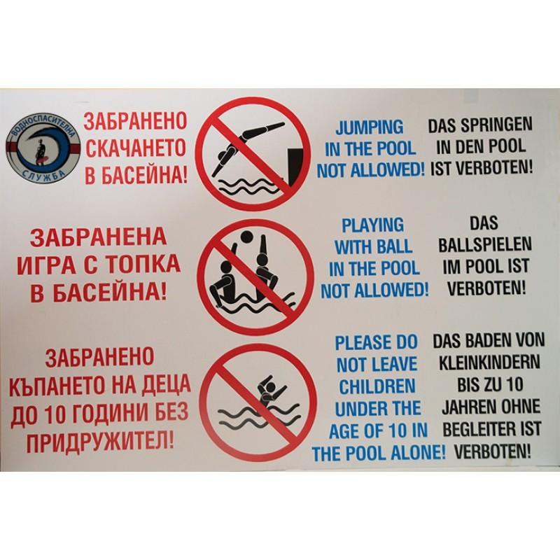 PVC Табло - Предупредително